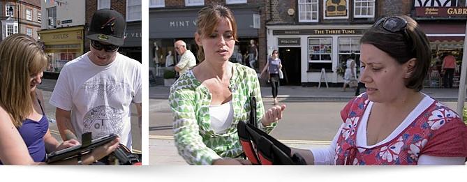 Belt Up Baby Go Filming in Henley